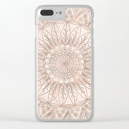 Golden floral mandala on marble n.1 Clear iPhone Case