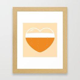 Brew Love - Amber Ale Framed Art Print