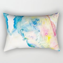 Sea Turtle Watercolor Illustration by Julie Lehite, Julesofthesea Rectangular Pillow
