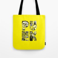 punk Tote Bags featuring PUNK by René Barth