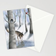 Lonely Wolf Stationery Cards