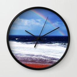 Beach Rainbow Wall Clock