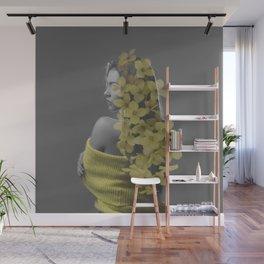 Floral hair Wall Mural
