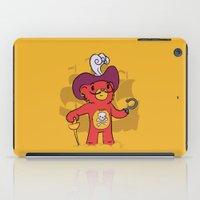 captain hook iPad Cases featuring Captain Bear Hook by pepemaracas
