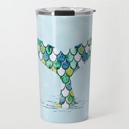 Mermaid Tail Blue Dreamy Sea Travel Mug