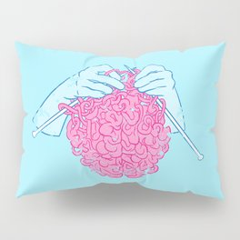 Knitting a brain Pillow Sham