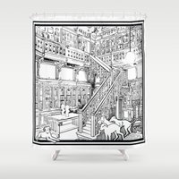 puppies Shower Curtains featuring Borzoi puppies by Agy Wilson