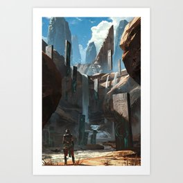 Tablet Falls Art Print