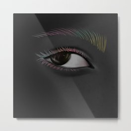 The black colored eye Metal Print
