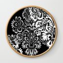 Black and Gray Damask by hhprint