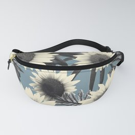 Tropical Sunflower Jungle Leaves Pattern #2 #tropical #decor #art #society6 Fanny Pack