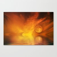skyfall Canvas Prints featuring skyfall by LuMixaArt