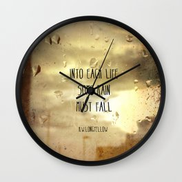 Some Rain Must Fall Wall Clock