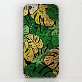 Grunge Monstera Leaves iPhone Skin
