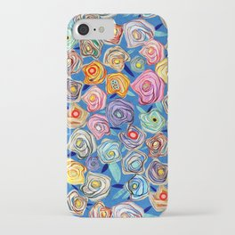 Grandmother Smiles Garden Blue London iPhone Case