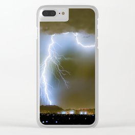 Into the Arizona Monsoon Evening Clear iPhone Case