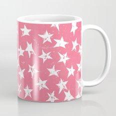 Linocut Stars- Blush & White Mug