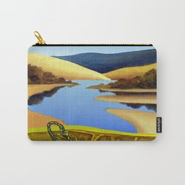 Water Meets Sand: Te Paki Stream Carry-All Pouch