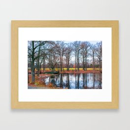 Reflections at Bellevue Park Framed Art Print