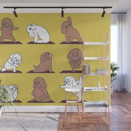 Poodle Yoga Wall Mural