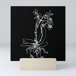 Orchid sketch Mini Art Print