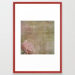 Flowers Whisper Beauty Framed Art Print