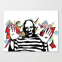 Picasso vector Canvas Print