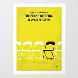 No575 My Perks of Being a Wallflower minimal movie poster Art Print