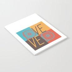 Love velo - velo love; cycling design Notebook