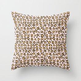 Pink Cheeta Pattern Throw Pillow