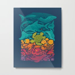 Aquatic Spectrum Metal Print