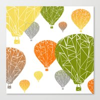 balloons Canvas Prints featuring BALLOONS by ARCHIGRAF
