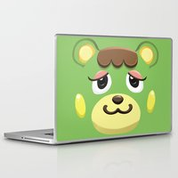 animal crossing Laptop & iPad Skins featuring Animal Crossing Charlise by ZiggyPasta