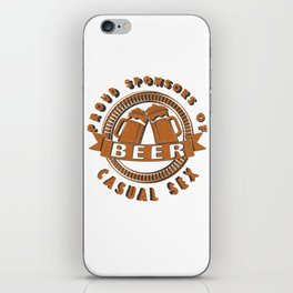 beer casual sex - I love beer iPhone Skin