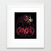 dark souls Framed Art Prints featuring Dark Souls - Gravelord Nito by Shamfoo