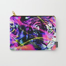 Color Splashed Tiger Carry-All Pouch
