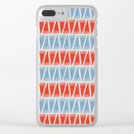 Tee Pee Navy Clear iPhone Case
