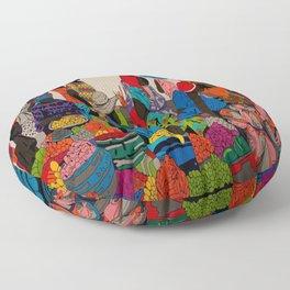 African market 3 Floor Pillow