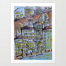 City scape. Art Print