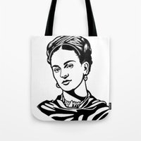 frida Tote Bags featuring Frida  by b & c
