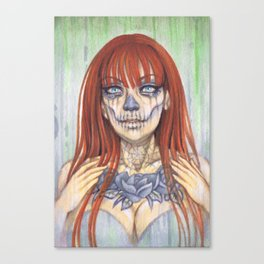 Ginger Sugar Skull by Gemma Pallat Canvas Print
