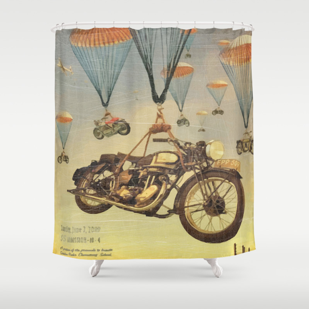 Graphic design sports and vintage shower curtains society6 Vintage shower curtains