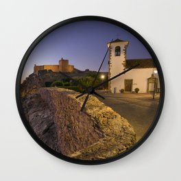 Marvao at dusk Wall Clock