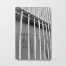dusty window graffiti Metal Print
