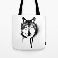 Wolf spray paint Tote Bag