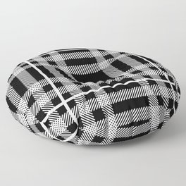 Black and White Plaid Floor Pillow