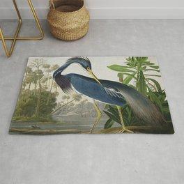 John James Audubon Louisiana Heron Painting Rug