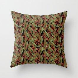 Flowering Gum - Black Throw Pillow
