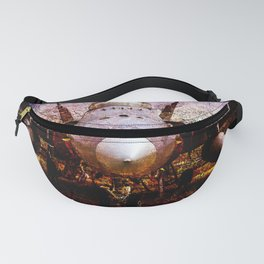 Frontal View Of A Modern Military Fighter Plane. Stylized Art Of Aviation Fanny Pack