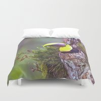 toucan Duvet Covers featuring Toucan by WorldPear